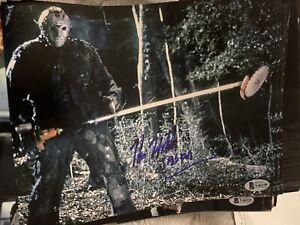 Beckett certified signed photo Friday The 13th Jason Kane Hodder