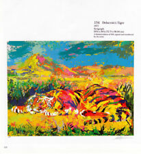 "LEROY NEIMAN BOOK PRINT ""DELACROIX'S TIGER"" FEARSOME PREDATOR CAT AFRICAN JUNGLE"