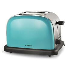 [B-Stock] STAINLESS STEEL 2-SLICE TOASTER TURQUOISE BLUE CHROME WIDE SLOT BAGEL