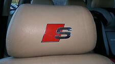 5 S SPORT AUDI RINGS CAR SEAT DECALS S1 S2 S3 S4 S5 S6 TT Vinyl Sticker leather
