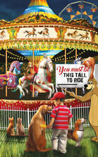 Jigsaw Puzzle Americana Merry go Round Maybe Next Year 300 piece NEW Made in USA