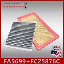 FA5699 FC25876C(CARBON) OEM QUALITY ENGINE & CABIN AIR FILTER: 2007-14 FORD EDGE