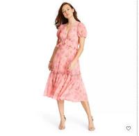 LoveShackFancy for Target Pink Melon Women's Fleur Dress Size 6 NWOT