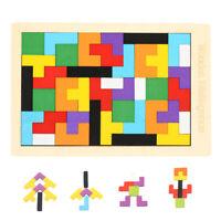 Holz Tetris Puzzle Spielzeug Baby Geometrie Kinder Lernspiel Formenspiel DE