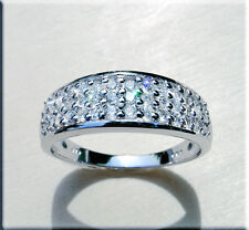 Brillantring Diamanten Ringe 14 Karat 585er Weißgold 0,50 Karat Top Wesselton