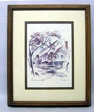 """Water Color Print of """" The Raleigh Tavern """" by John Hayman, 18"""" x 22 """""""