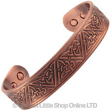 New COPPER MAGNETIC Bracelet TRIANGLE DESIGN 6 Magnets Health Rare Earth NdFeB