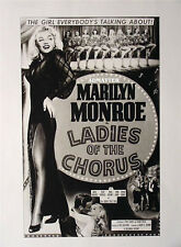 MARILYN MONROE PIN-UP POSTER FROM FILM LADIES OF THE CHORUS MOVIE NOT A PHOTO!