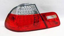 Red Clear LED Tail Lights Fits BMW E46 3 Series 2Dr 99-03