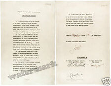 Wall Art Photograph  WWII German Document Instrument of Surrender 1945 11x14