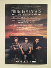 THUNDAMENTALS 2014 Australian Tour Poster A2 So We Can Remember OZ HIP HOP **NEW
