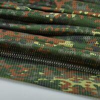 "German Flecktarn Camo Camouflage Net Cover Army Military 60""W Mesh Fabric Cloth"