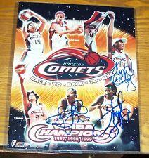 Signed Houston Comets WNBA Sheryl Swoopes, Tina Thompson, Cynthia Cooper COA's