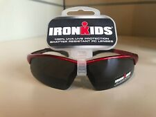 Kids 100% UVA-UVB Protection Shatter Resistant Sunglasses, Red