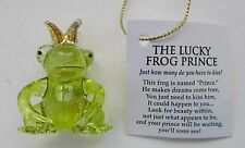 t THE LUCKY FROG PRINCE glass figurine makes dreams come true with a kiss Ganz