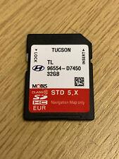 GENUINE HYUNDAI TUCSON SAT NAV NAVIGATION SD CARD UK EUROPE 2017 MAP 96554D7450