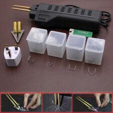 Car Auto Hot Stapler Bumper Fender Fairing Weld Gun Plastic Repair Kit Staples