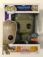 "Funko Pop! Marvel Guardians Galaxy Vol 2 Groot #202 Target Ex Life Size 10"" NEW"