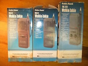 VTG Radio Shack Walkie-Talkie 3LOT..2,TRC-91's and 1,TRC-223..tested w/batteries
