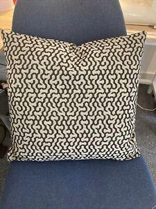 """Black Beige Modern Design Fabric cushion cover Prestigious? 17"""" Luxury Quality"""