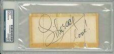 Liberace Signed Authentic Autographed Cut Slabbed (PSA/DNA) #83080645