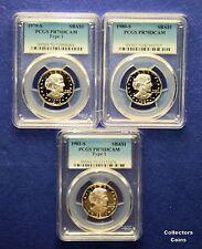 1979 S T1, 1980 S & 1981 S T1 $1 Susan B Anthony $ Proof PCGS70 Set @ Wholesale
