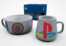 Playstation Classic Breakfast Set Mug Bowl Cereal PS1 Sony Retro Game Gaming
