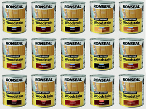Ronseal Woodstain Quick Dry  750 & 250 ml  ALL COLOURS