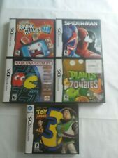 NDS Lot of 5 Namco Toy Story 3 Plants Zombies Rabbids Spiderman Nintendo DS