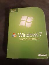 Microsoft Windows 7 Home Premium Upgrade 32 Bit & 64 Bit DVDs MS WIN Retail Box