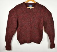 Vintage Woolrich Men's Sweater Pullover Wool Blend Buffalo Red Size M Crew Neck