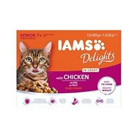 Iams Wet Cat Food Delights Gravy For Senior Cats, 12 x 85 G - 85 Pouch 12x85