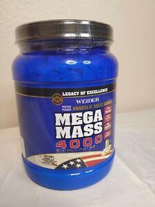 Weider Mega Mass 2000 Anabolic Weight Gainer Vanilla  Exp 10/28/2022 protein