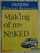 Daihatsu Naked Accessory range brochure Oct 2000 Japanese text
