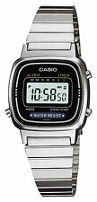 LADIES DIGITAL CASIO RETRO QUARTZ WATCH LA-670WA SILVER STEEL BAND OZ SELLER