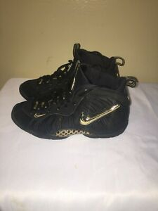 Nike Air Foamposite Pro Black Metallic Gold(GS) SIZE 4.5Y IN VERY GOOD CONDITION
