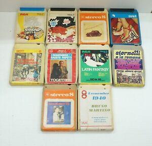 Lotto n. 10 Cassette Stereo 8 Anni '70 - Cassette Non Testate