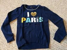 """New w/Tags*GAP Girl's Sweater in Size L/Large (10-11 years)*I """"heart"""" Paris"""
