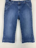Carhartt Crop Jeans Women's Size 10 Pants Blue Denim Capri Work Traditional Fit