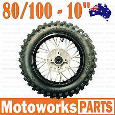 "80/100 - 10"" Inch Rear Back Wheel Rim Knobby Tyre Tire Dirt Pit PRO Trail Bike"
