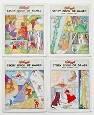 KELLOGG'S STORY BOOK OF GAMES complete 4 book set