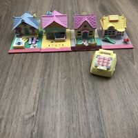 Polly Pocket Bluebird Vintage 90s Lot Of 5 Imperfect