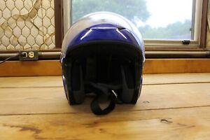 SCORPION EXO 200 Motorcycle HELMET Gloss Blue USED- LARGE