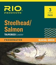 RIO Steelhead / Salmon Leaders - 3 Pack - 9ft - 10lb - New