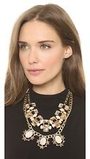 Lee by Lee Angel Stone Cabochon Crystal Cut Out Statement Necklace NWT $146