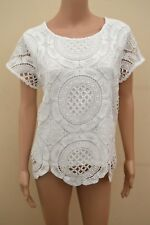 New M&S Classic White Lace Top Sz UK 14  & 24