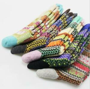 5 Pairs Rich Thermal Mens Soft Cotton Warm Wool Christmas Adults Thick UK Socks