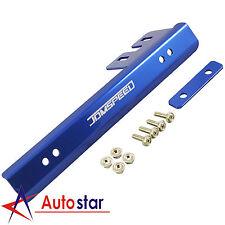 Blue Universal Front Bumper License Plate Bracket Side Mount Relocator Holder