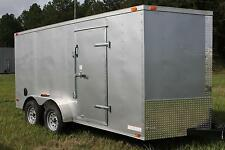 7x16 Enclosed Trailer Cargo V Nose Motorcycle 8 Hauler Box Landscape Tandem CALL