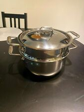 All Clad 5 qt Stock Pot with Steamer Basket and Lid